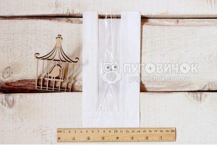 Крафт-упаковка 22*10,4*4см белая с окошком