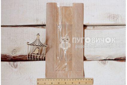 Крафт-упаковка 26,5*14*4,5см бежевая с окошком