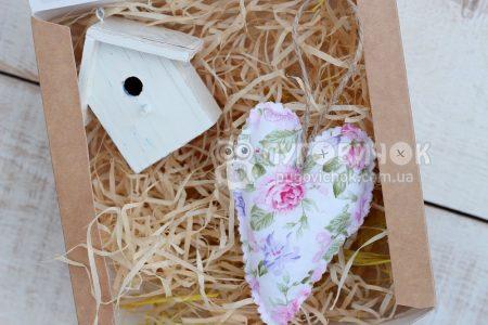 Сердечко текстильное для декора