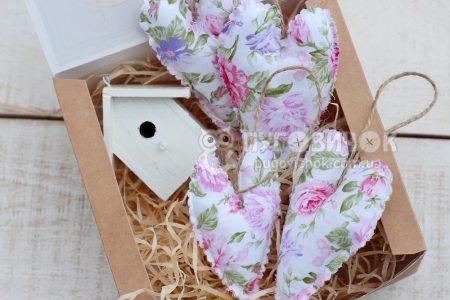 Сердечко текстильне для декору