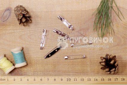 Заготовка для брошки 31*6мм серебряная