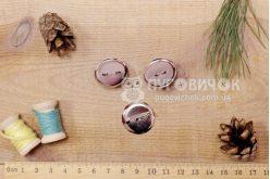 Заготовка для брошки-кабошон 23мм серебряная