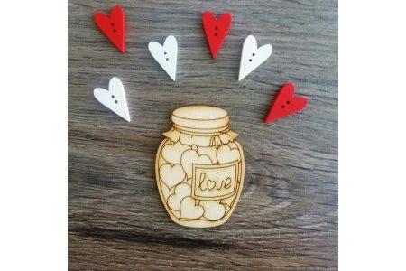"""Заготовка для декора """"Банка LOVE"""" 65*48мм"""