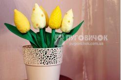 Тюльпаны текстильные жёлтые в ассортименте