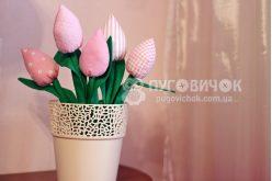 Тюльпани текстильні рожеві в асортименті