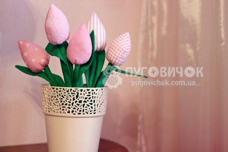 Тюльпаны текстильные розовые в ассортименте