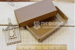 Коробка з крафт-картону 160*80*30мм