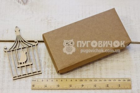 Коробка с крафт-картона 160*80*30мм