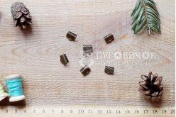 Зажим для лент 10*8мм бронзовый