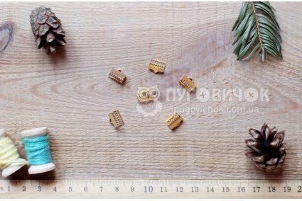 Зажим для лент 10*8мм золотой