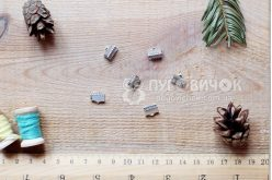Зажим для стрічок 10*8мм срібний