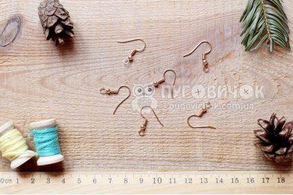 Заготовка для сережки золотая