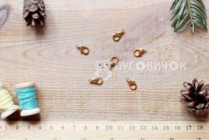 Застежка-карабин 12 мм золотая