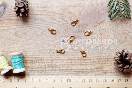 Застібка-карабін 12 мм золота