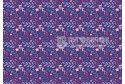 """Фетр м'який з візерунком """"Квіти та листя на фіолетовому"""""""