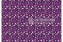 """Фетр м'який з візерунком """"Квіти фіолетово-рожеві на фіолетовому"""""""