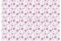 """Фетр мягкий с узором """"Цветы фиолетово-розовые на белом"""""""