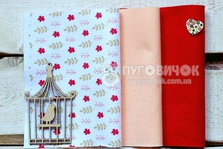 """Набір м'якого корейського фетру """"Квіти червоні та листя"""" КМ № 12,26"""