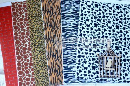 Фетр корейский жесткий с узором жираф