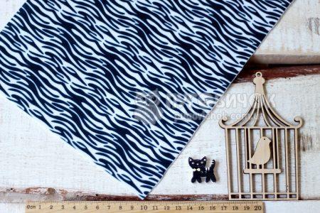 Фетр корейський жорсткий з візерунком зебра 20х30 см