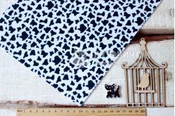 Фетр корейский жесткий с узором корова 20х30 см