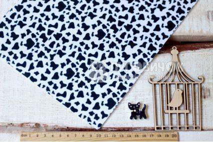 Фетр корейський жорсткий з візерунком корова