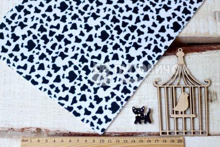 Фетр корейский жесткий с узором корова