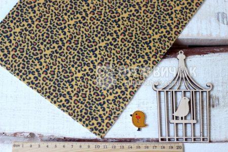 Фетр корейский жесткий с узором леопард