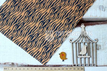 Фетр корейский жесткий с узором тигр