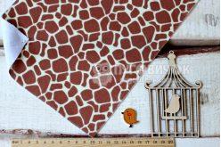 Фетр корейский мягкий с узором жираф 20х30см