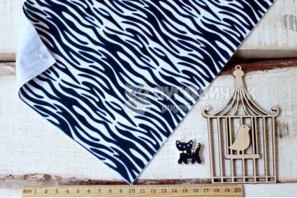 Фетр корейский мягкий с узором зебра 20х30 см