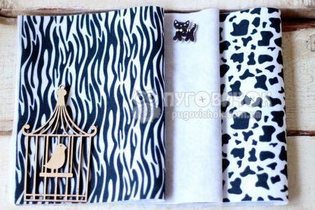 Фетр корейский мягкий с узором зебра