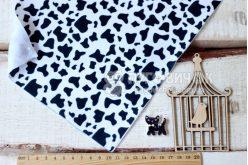 Фетр корейский мягкий с узором корова 20х30 см