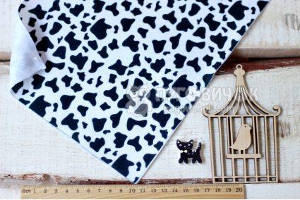 Фетр корейский мягкий с узором корова