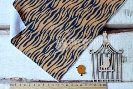 Фетр корейский мягкий с узором тигр
