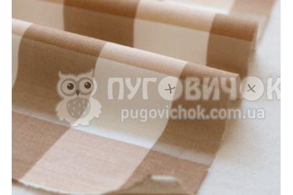 """Ткань """"Кремовая"""" квадраты"""