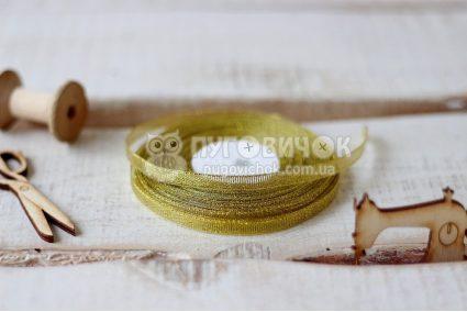 Лента парчовая 0,6см золотая