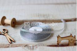 Стрічка парчова 0,6см срібна