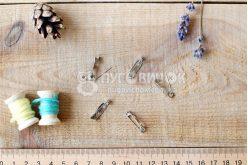 Заготовка для брошки 20*5мм серебряная
