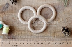 Кольцо деревянное буковое 53мм