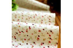 """Ткань """"Цветы разные мелкие на белом"""""""