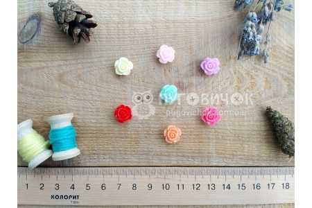 "Намистина ""Троянда"" 14*14мм"