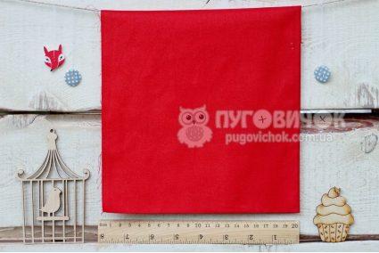 Ткань польская однотонная красная