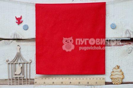 Тканина польська однотонна червона