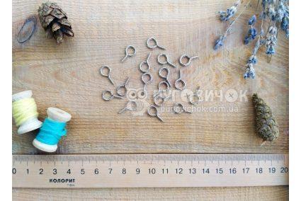 Крючок-саморез металлический серебряный