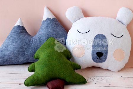 Декоративные подушки из фетра в ассортименте