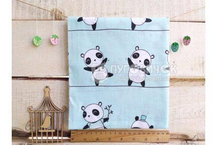 Ткань польский «Панды» на мятном