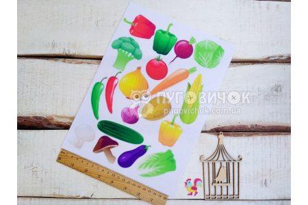 """Фетр жесткий с узором """"Овощи"""""""