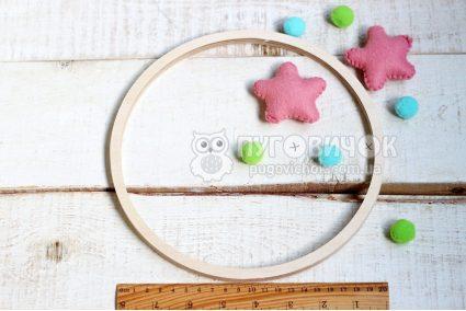 Кольцо деревянное (фанерное) для мобиля 22 см