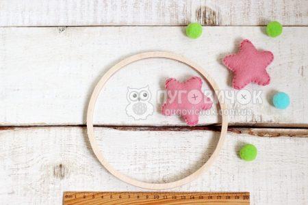 Кільце дерев'яне для мобілю 16 см